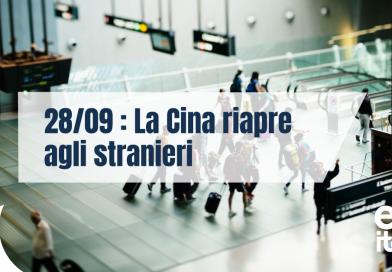 CINA: dal 28 settembre ingresso consentito agli stranieri
